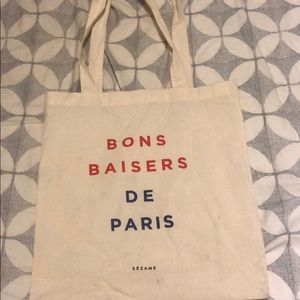 Sezane Bags - Sezane canvas tote bag
